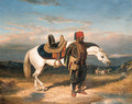 An Arabian horseman watering - (after) Alfred De Dreux