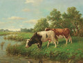 Cows in a meadow - Adriaan Marinus Geijp