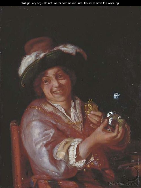 A self-portrait as a Merry Toper - Adriaen Van Der Werff