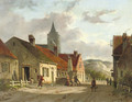 Daily activities in a sunlit Dutch town - Adrianus Eversen