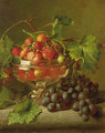 A still life with strawberries and grapes - Adriana-Johanna Haanen