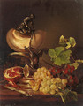 Still life with grapes, pomegranate and a nautilus cup - Adalbert Schaffer
