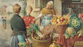 A fruit market in Rome - Achille De Dominicis