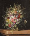 Wild flowers in a glass vase - Adelheid Dietrich