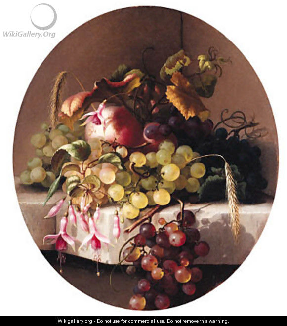 Still Life with Fruit - Adelheid Dietrich