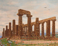 The Temple of Juno, Agrigento, Sicily - Heinrich Hansen