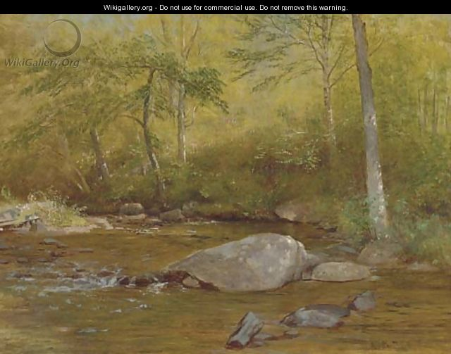 Rocks in Spring, Farmington River - Aaron Draper Shattuck