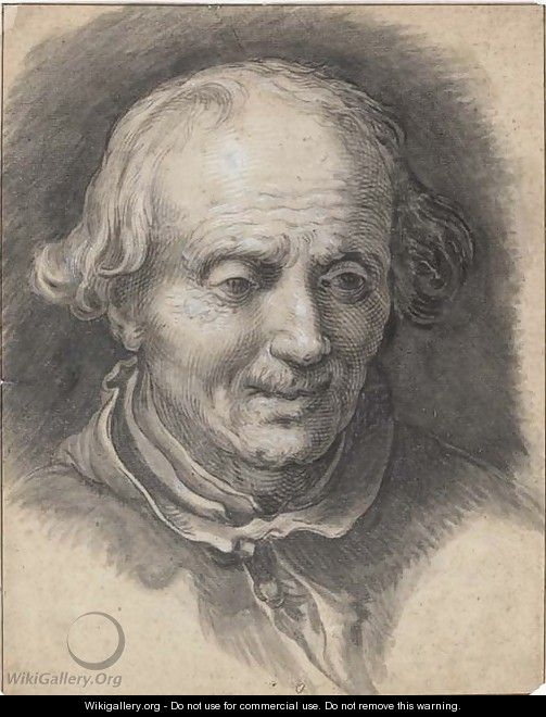 Portrait of an old man looking down - Abraham Bloemaert
