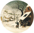 The Month of January A winter landscape with The Adoration of the Magi - Abel Grimmer