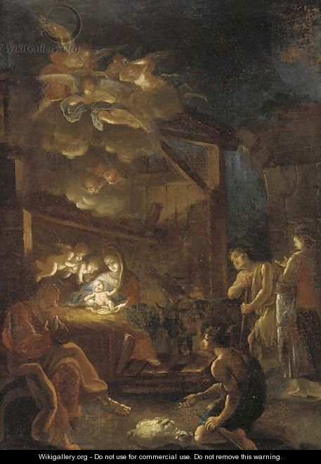 The Adoration of the Shepherds 2 - (after) Ignazio Stella (see Stern Ignaz)