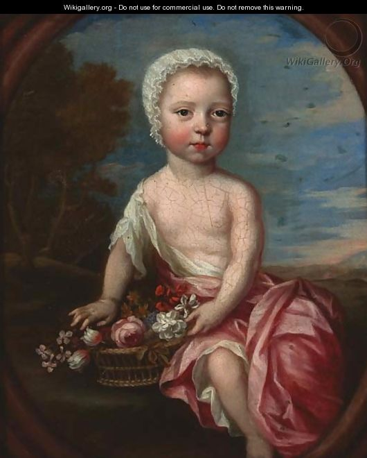 Portrait of a child - (after) Heroman Van Der Mijn
