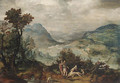 An extensive Landscape with Venus and Adonis(); and An extensive Landscape with Mercury and Argus - (after) Herri Met De Bles