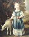 Portrait of a young girl dressed as a shepherdess - (after) Jacob Gerritsz. Cuyp