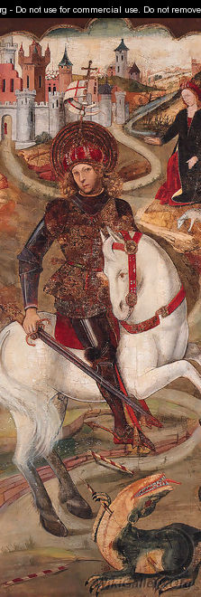 Saint George and the Dragon - (after) Jaume Huguet