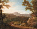 Italianate Landscapes with Hunters at Sunrise and Sunset - (after) Jacques D' Arthois