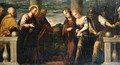 Christ and the Woman taken in Adultery - (after) Jacopo D'Antonio Negretti (see Palma Giovane)