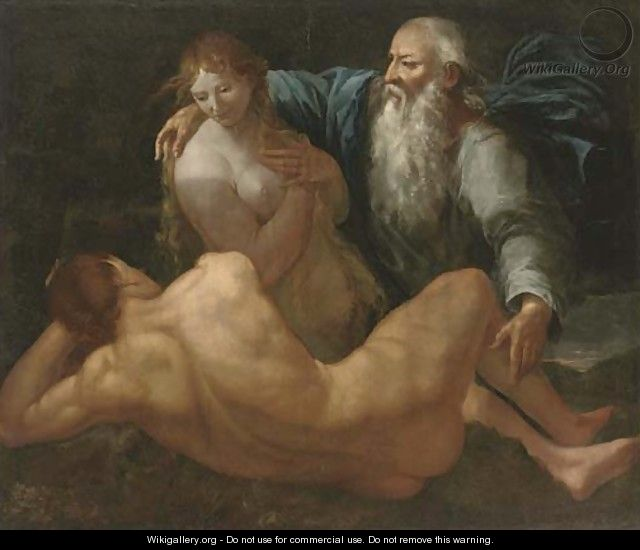 The Creation of Adam and Eve - (after) Giulio Carpioni