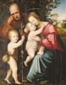 The Holy Family with the Infant Saint John the Baptist - (after) Giovanni Di Lorenzo Larciani