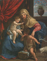 The Madonna and Child with Saint John the Baptist - (after) Guido Reni