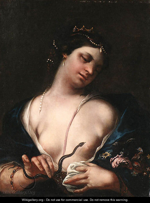 Cleopatra and the Asp - (after) Guido Cagnacci