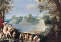 Mars and Venus in a river landscape - (after) Giuseppe (d'Arpino) Cesari (Cavaliere)