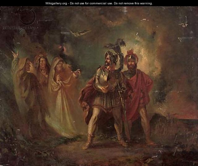 Macbeth and Banquo with the three witches - (after) Howard ...