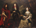 Group Portrait of James, Duke of York, Charles, Prince of Wales and Henrietta, Duchess of Orleans - (after) Henri Gascars