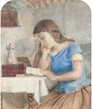 Engrossed in the letter - (after) George Goodwin Kilburne