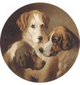 Three hounds - (after) George Earl