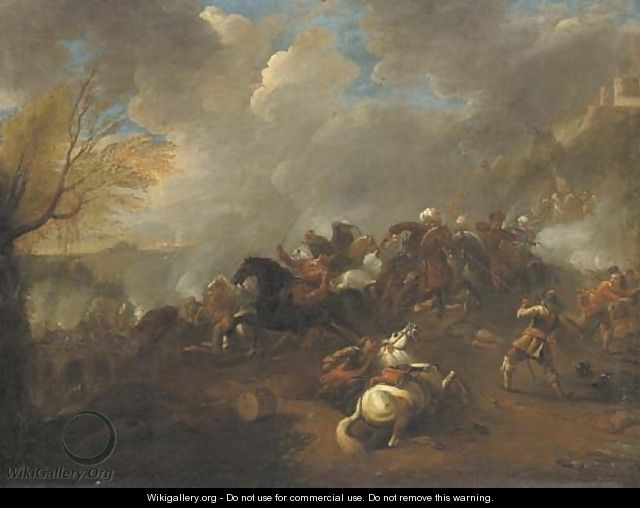 A cavalry battle 2 - (after) Rugendas, Georg Philipp I