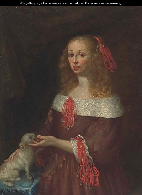 Portrait of a lady 2 - (after) Gerard Ter Borch