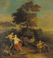 Venus and Adonis - (after) Gerard Hoet