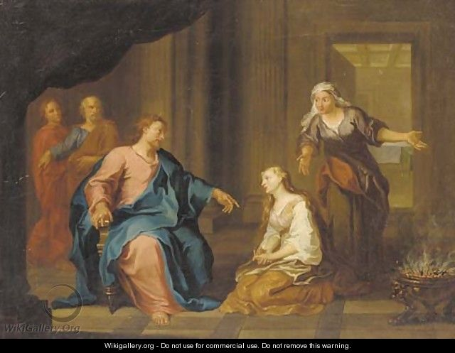 Chirst in the house of Martha and Mary - (after) Gerard De Lairesse