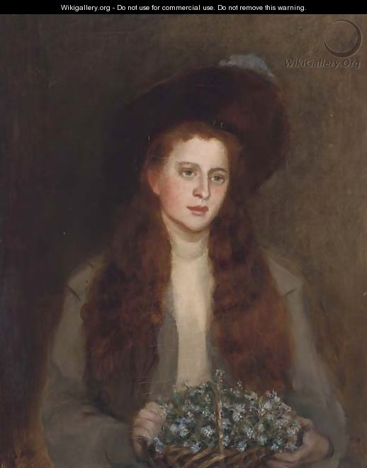 Portrait of Phyllis Chisholm-Batten - (after) George Sheridan Knowles