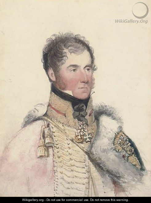 Portrait of the Marquis of Anglesey - (after) George Richmond