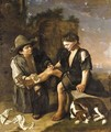 Two young boys with a dog - (after) Giacomo Ceruti (Il Pitocchetto)
