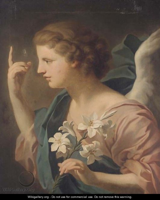 The Angel of the Annunciation - (after) Giovanni Battista (Baciccio) Gaulli