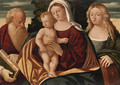 The Madonna and Child with Saints Jerome and Catherine - (after) Francesco Rizzo Da Santa Croce