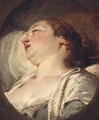 A woman, head and shoulders - (after) Francois Boucher