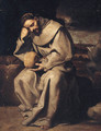 Saint Francis in meditation - (after) Francisco Ribalta