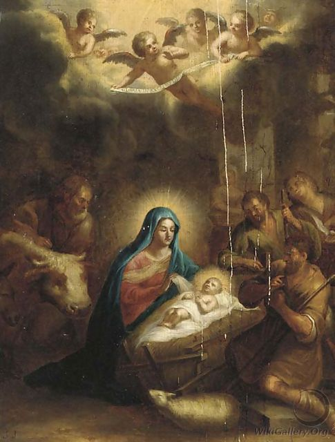 The Adoration of the Shepherds - (after) Francis Verwilt