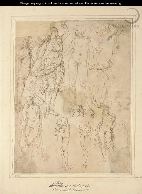 Studies after the Antique - (after) Domenico Ghirlandaio