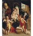 The Holy Family with the Young Saint John the Baptist and an Angel - (after) Denys Calvaert