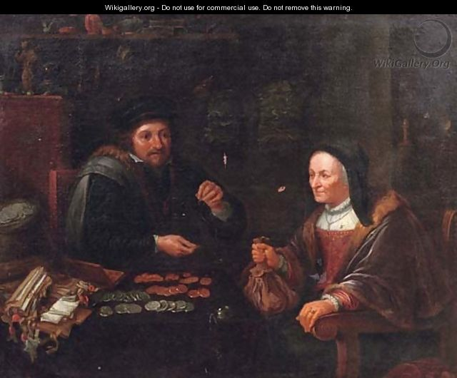 The tax collector - (after) David The Younger Teniers