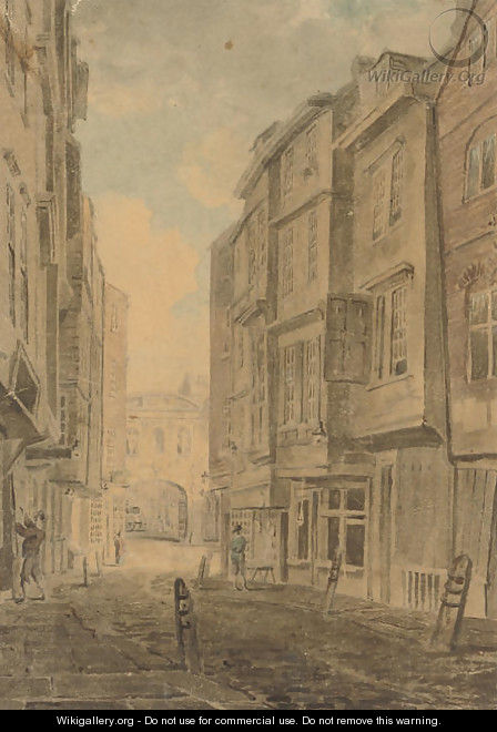 Butchers Row and Temple Bar, London - (after) Dayes, Edward