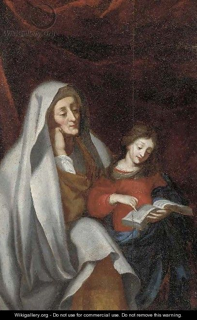 The Education of the Virgin - (after) Erasmus II Quellin (Quellinus)