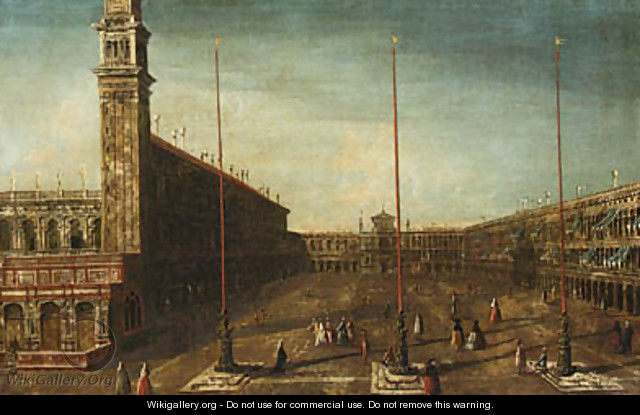 The Piazza San Marco, Venice, looking West towards San Geminiano - (after) Francesco Albotto