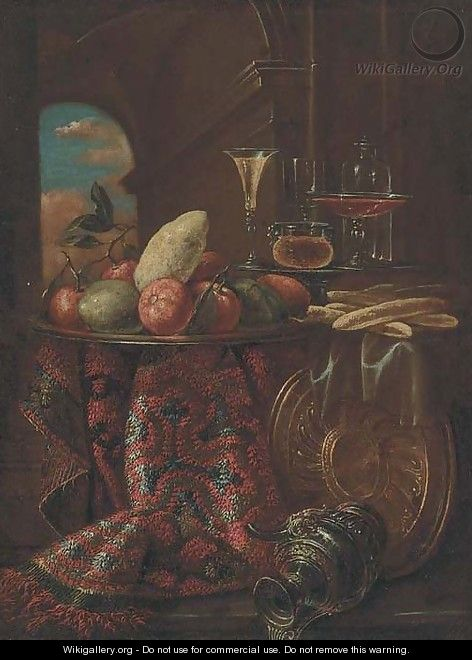 Oranges, limes, and a lemon on a dish - (after) Christian Berentz