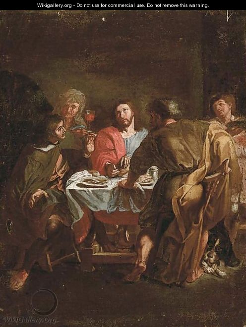 the supper at emmaus after charles lebrun the largest gallery in the world. Black Bedroom Furniture Sets. Home Design Ideas