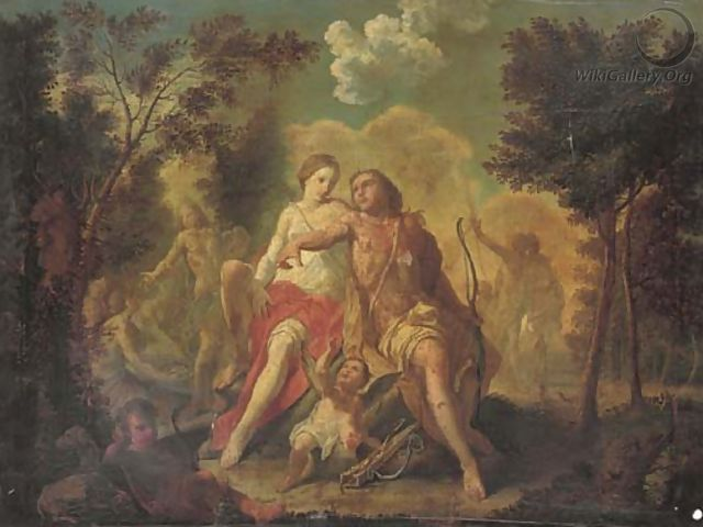Venus and Adonis - (after) Claudio Francesco Beaumont